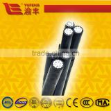 aerial insulated cables PVC,PE and XLPE insulated copper core, aluminum core or aluminum alloy core ABC cable