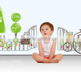 Removable Wall Stickers Environmental Bedroom living room entrance hallway wall stickers bicycle green fence stickers Sweet Home