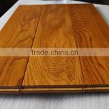 oak solid wood flooring with hand scraped golden wheat stain