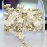 Factory Sale Acrylic Rhinestone Chain, Rhinestone Bridal Trims Cupchain, Crystal Shoese Chain