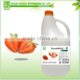 Taiwan Bubble Tea Supplier Strawberry Flavored Concentrated Fruit Syrup