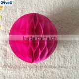 New Arrival Fuchisa Color Tissue Paper Ball Lantern Home Decor For Wedding Birthday Kids Party Baby Shower
