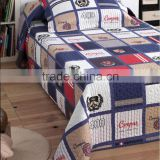 China supplier boy printed cotton patchwork quilt for children/kid bedspread/kid quilt