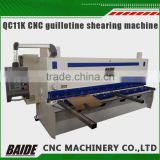 QC11K CNC thick steel plate shearing machine guillotine shear Metal cnc hydraulic guillotine