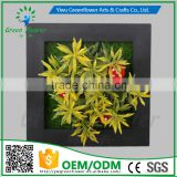 Greenflower 2016 Wholesale 3D Wall Picture Group artificial plants arts and crafts making factory Home decorations