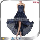body slimming clothes halter high low prom dresses navy blue gold sequin wholesale dresses evening puffy party dresses
