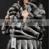 real chinchilla fur coat from China