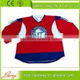 Newest red sublimation 100% polyester Vintage Fans ice hockey jerseys sublimated lacrosse jersey