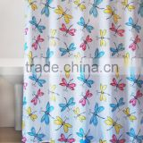 Colorful dragonfly Pattern for Children washroom bath shower curtain
