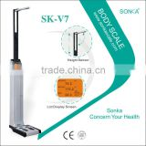 SK-V7 With Ultrasonic Probe And Precise Sensor Weight Scale With BMI