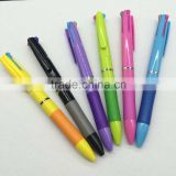 cheap Plastic Material 3 color ball pen