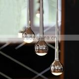 Falling Water Chandeliers with Metal plating Special Condenser Spherical Glass for Projects