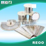 REOO solar panel ribbon tabbing wire soldering strip for DIY solar cell width 1.5mm thickness 0.2mm                                                                         Quality Choice