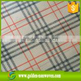 uv resistant windproof printed nonwoven fabric for airline headrest cover/1.2/1.6m width nonwoven printing fabric