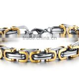 Professional Stainless steel jewelry manufacturer 316 stainless steel byzantine chain bracelet                                                                         Quality Choice