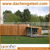 Wood Panel Fast prefabricated lovely Cabin container house villa