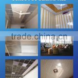building materials plastic hollow pvc 595*595 ceiling board ceiling panels, cheap roofing materials
