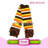 Baby stripes football leg warmers for baby girls kids leg warmer for children