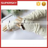 V-380 Wedding fingerless mesh lace wedding dressing bridal glove protection sun block daily gloves