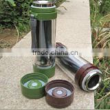 Multifunctional portable outdoor travel solar heating water sports vacuum cup high-grade gift mugs