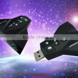 USB 2.0 7.1 Channel 3D Audio microphone Sound Card Adapter Splitter