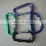 Large D Shaped Aluminum Carabiner With Keyring