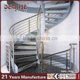 prefabricated stairs outdoor/stainless steel handrail for stairs