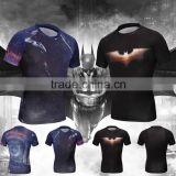Latest fashion dropship printed super hero t-shirts 95% polyester 5% marvel t-shirts