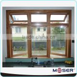 wood frame window solid glass window wooden window design