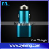 New dual USB car charger with emergency hammer function Stainless steel 12v car battery charger