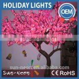 Outdoor acrylic motif tree light LED sculpture light decorations led cherry blossom tree light