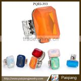 Wholesale new fashion jewelry exaggerated big gemstone stretch ring in various color