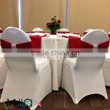Wedding spandex chair band with diamond buckle spandex chair cover sash lycra chair bow                                                                         Quality Choice