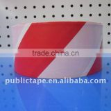 Red and white PE warning barrier tape diagonal HOT SALE