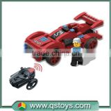 New design educational toys rc car plastic blocks,Infrared Building block car,cheap toy building blocks