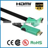 APBG New Ultra Thin HDMI Cable Standard Right Angle to HDMI Standard Right Angle Flat Ribbon Cable support 4k