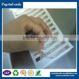 read uhf 900mhz acid resistant 2.4ghz active adhesive label metal credit card sleeve rfid label