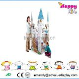 Beautiful color kid play house/ cardboard castle playhouse/kids outdoor playhouses for sale