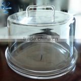 whole new design transprent cake stand with lid /glass dome cover