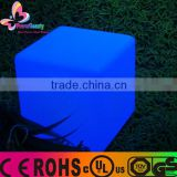 2016 hot promotional waterproof plastic multi color changing led cube led seat led chair light