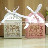 Love Heart Bird Laser Cut Party Wedding Favor Candy Gift Boxes