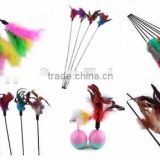Funny Cat Teaser Toy / Da Bird Feather Cat Wand Toy