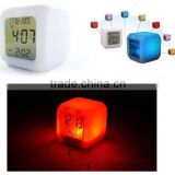 Hot selling 7 color changing led digital alarm clock