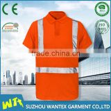 100% polyester safety polo shirt customized polo t shirt en20471 working reflective shirt