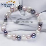 SCI022 8mm baroque shape real freshwater pearl bracelet