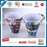 Abstract design ice cream reusable melamine cup , drink saka cup with cheap price, coconut shell ice cream cup