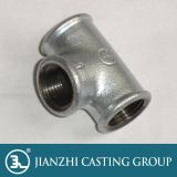malleable cast iron pipe fitting 3-way equal tees