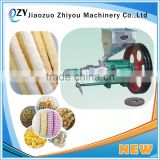 cheapest price corn extruder/corn puff snack extruder for small house use(email:millie@jzzhiyou.com)
