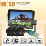 "7"" Digital Screen Monitor Support Three-channel rear vision back-up system"