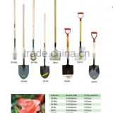 PAGE28 STEEL SHOVELS WITH WOODEN HANDLE